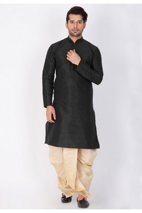 Men's Exquisite Black Color Dhoti Kurta for men