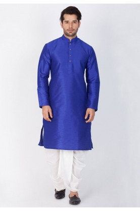 Buy Blue Color Party Wear Dhoti Kurta Online India