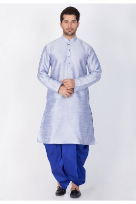 Blue Color Dhoti Kurta.