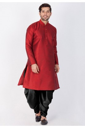 Maroon Color Readymade Dhoti Kurta.