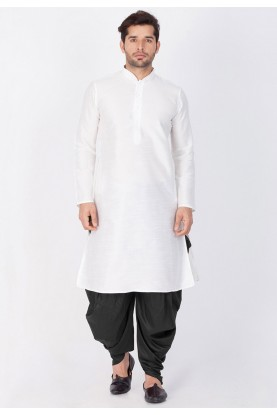 White Color Readymade Dhoti Kurta for men