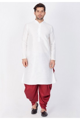 White Color Dhoti Kurta.