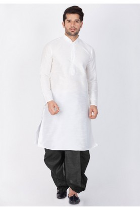 Cotton Silk Readymade Dhoti Kurta.