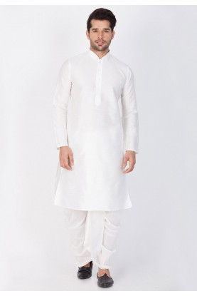Exquisite White Color Dhoti Kurta.