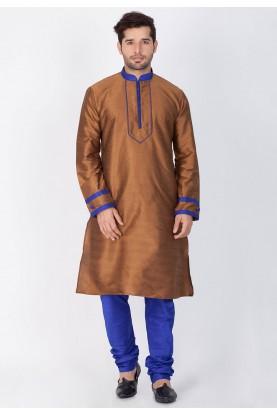 Brown Color Readymade Kurta Pajama.