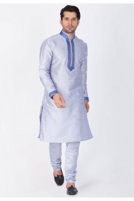 Silver Color Readymade Kurta Pajama.