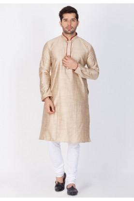Beige Color Readymade Kurta Pajama.