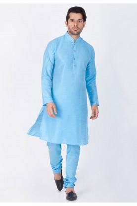 Sky Blue Color Readymade Kurta Pajama.