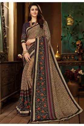 Multi Color Georgette Saree.