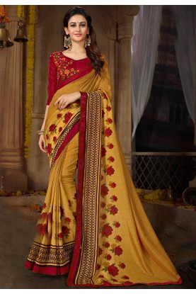 Yellow Color Georgette Saree.