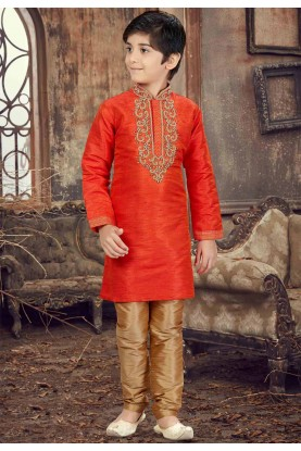 Orange Color Kurta Pajama.