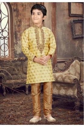 Golden Color Kurta Pajama.