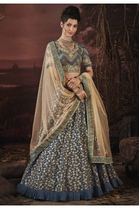 Grey Color Party Wear Lehenga.