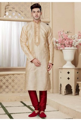 Golden Color Designer Kurta Pajama.