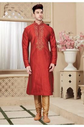 Buy Maroon Color Designer Kurta Pajama online