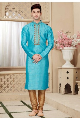 Blue Color Kurta pajama.