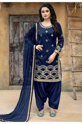 Blue Color Salwar Suit.