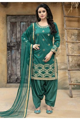 Green Color Salwar Kameez.