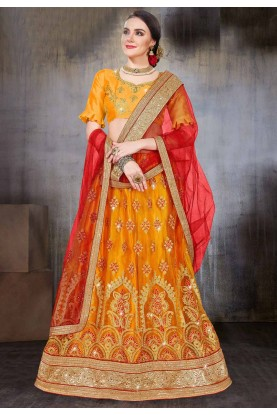 Yellow Color Wedding Lehenga.