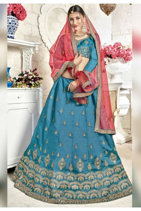 Blue Color Lehenga Choli.