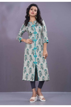 Grey Color Casual Kurti.