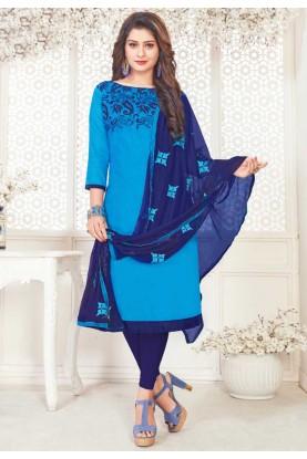 Blue Color Salwar Suit.