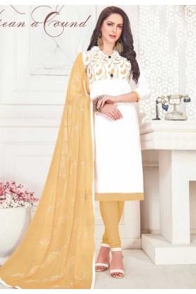 White Color Salwar kameez.