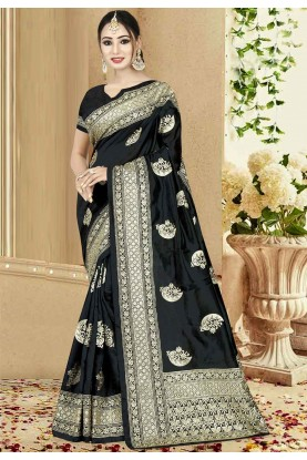 Black Color Party Wear Saree.