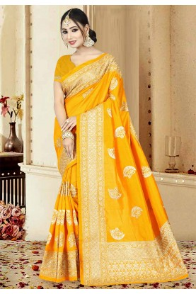 Orange Color Saree.