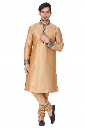 Golden Color Readymade indian Kurta Pajama for wedding