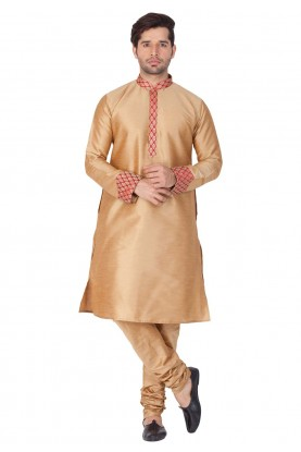 Golden Color Indian kurta pajama for mens