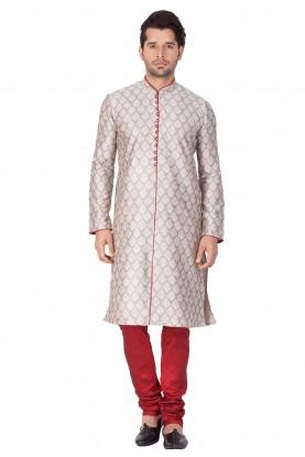 Grey Color Readymade Kurta Pajama