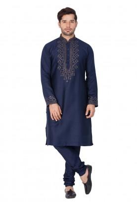 Blue Color Readymade Kurta Pajama.