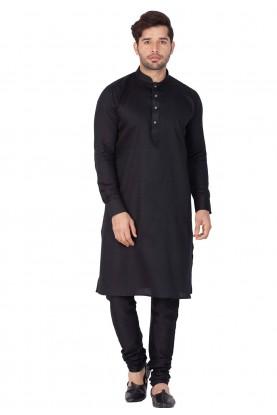 Black Color Readymade Kurta Pajama.