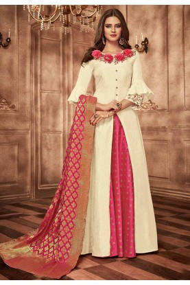 Off White Colour Designer Gown.