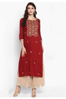 Red Colour Indian Kurti.