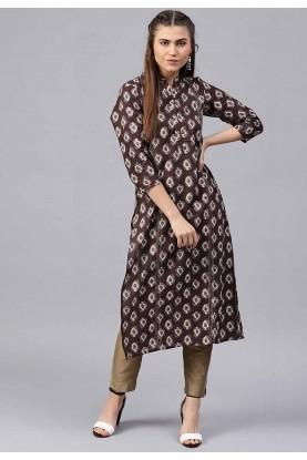 Brown Colour Party Wear Kurti.
