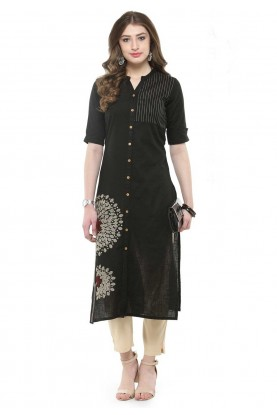 Black Colour Designer Kurti.
