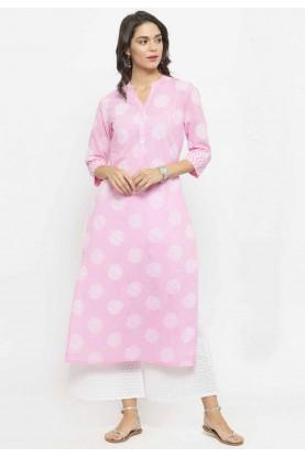 Pink Colour Casual Kurtis Online