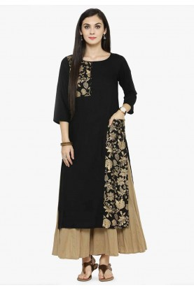 Black Colour Party Wear Kurti.