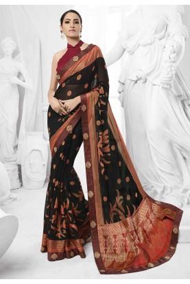 Black Colour Saree.