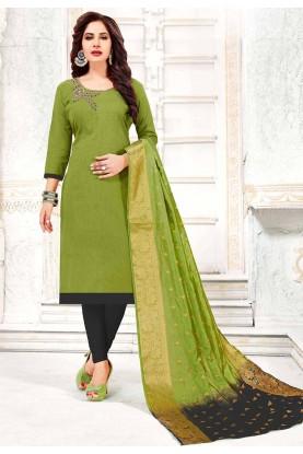 Green Colour Salwar Kameez.