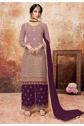 Pink,Purple Colour Salwar Suit.
