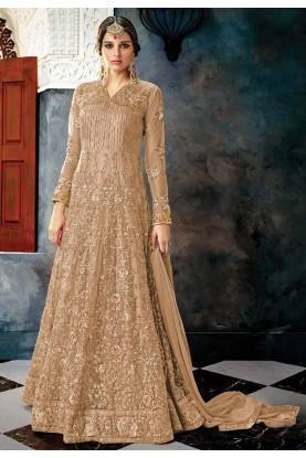 Buy Anarkali Salwar Suit Online with Beige Colour