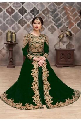 Buy Green Colour Georgette Indian salwar suit