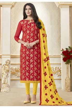 Buy Red Colour Indian salwar suit Online