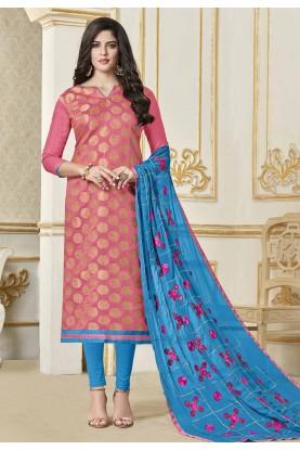 Buy Pink Colour Salwar kameez online shopping