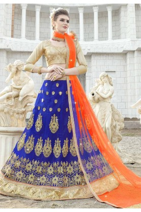 Buy Blue colour Lehenga choli online at Best price
