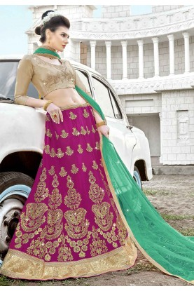 Pink Colour Engagement Bridesmaid lehenga online