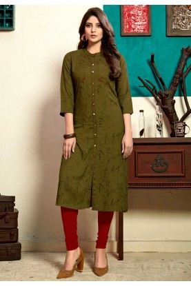 Buy kurtis online india in green colour